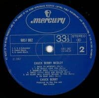 CHUCK BERRY Chuck Berry Medley Vinyl Record LP Mercury